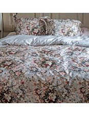 Rusted Floral Påslakan Satin 3-Dels King Size